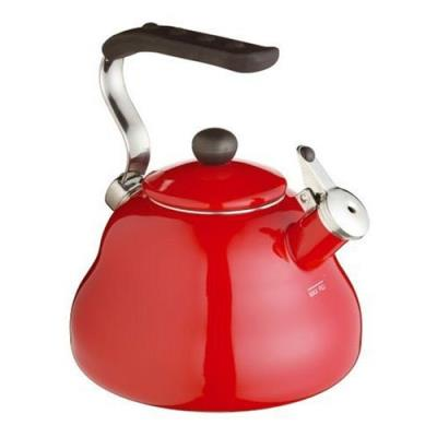 Kitchen craft le'xpress bouilloire sifflante colorée rouge chilli 2 l