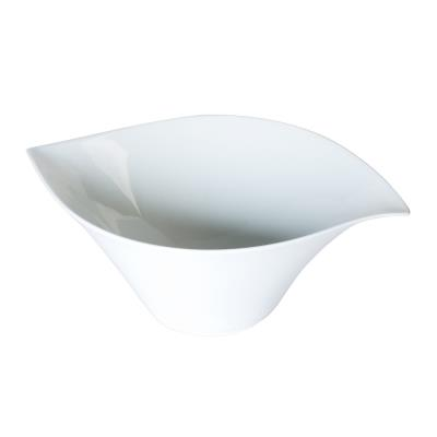 Table Passion - Saladier Porcelaine Blanche 36 Cm Forme Feuille