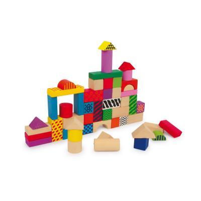 Cube de construction en bois coloré Marcel