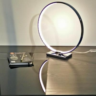 Collection Led Lampe Chrome Circle Design À Poser IEHW2D9