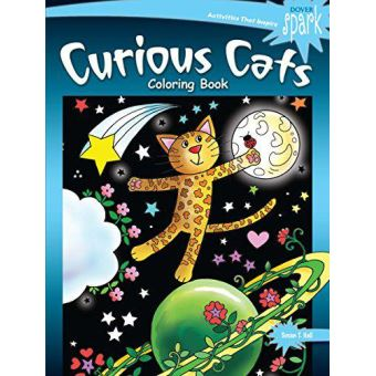 Spark curious cats coloring book