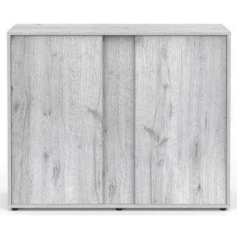 537 sur meuble elegance expert 100x40 cm 2 portes chene blanc meubles pour aquarium achat prix fnac