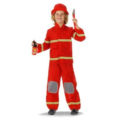 Pompier Costume De Pompier Pour Enfant Enfants Costume 6-9 Ans Taille M Unbekannt F-21879