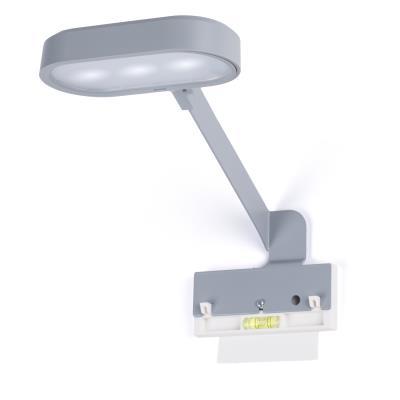 Kit lampe connectée gris 150 lumens Reverse Magnet+ fixation collable