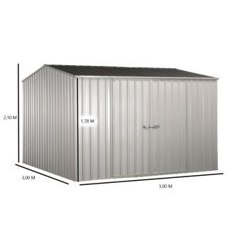 Abri de jardin métallique 8.76 m2, Foresta
