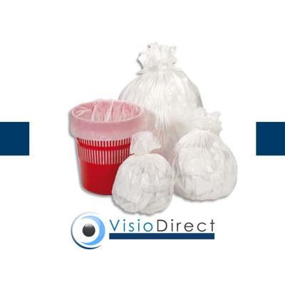 Carton de 10 rouleaux de 50 sacs-poubelle, 30L, blancs