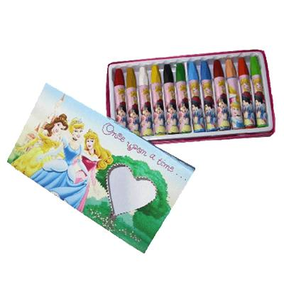 Boite de crayons de cire Disney Princesses
