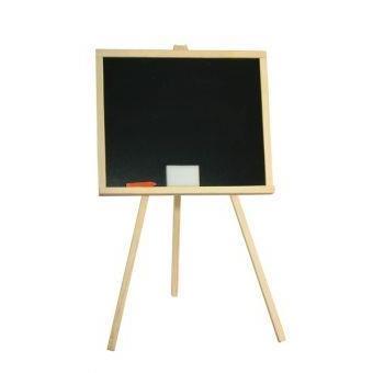 Tableau noir enfants 90x48cm tableau sur pieds tableau criture dessins bois tableau d cole for Ecrire sur un tableau noir