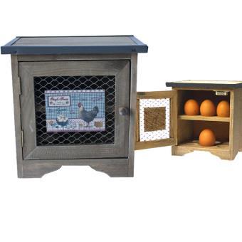 boite cave rangement oeuf en bois pour 12 oeufs contour gris achat prix fnac. Black Bedroom Furniture Sets. Home Design Ideas
