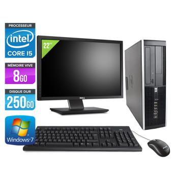 pc de bureau hp elite 8200 sff ecran 22 39 39 noir intel core i5 2400 ghz ram 8 go. Black Bedroom Furniture Sets. Home Design Ideas