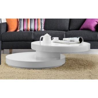 ROLL Table basse ronde plateau pivotant - Achat & prix   fnac