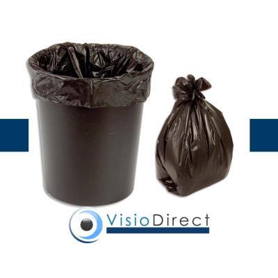 Boîte de 500 Sacs-poubelle, 30L, noir, 10 microns