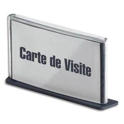 Plaque de porte format carte de visite coloris anthracite