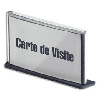 Plaque De Porte Format Carte Visite Coloris Anthracite Plaques Top Prix