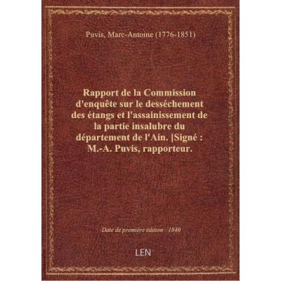 Rapport de la Commission d'enquête sur le desséchement des étangs et l'assainissement de la partie i