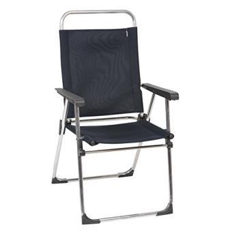lafuma victoria new fauteuil pliant gris acier mobilier de camping achat prix fnac - Fauteuil Pliant Lafuma