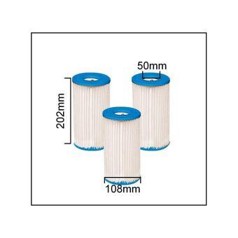 intex 59900 3 cartouches pour filtre de piscine type a. Black Bedroom Furniture Sets. Home Design Ideas