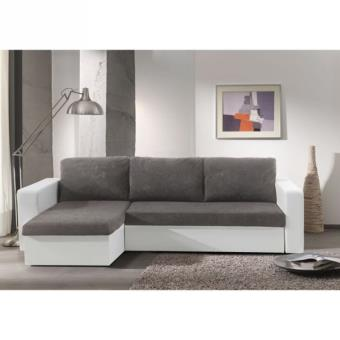 echo canap angle bimatiere convertible grisblanc fauteuils enfant achat prix fnac - Canape Gris Blanc