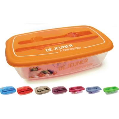 Boite alimentaire lunch box CMP LUNCH BOX ILLUSTREE + COUVERTS KB7889
