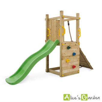 Aire de jeux grec avec toboggan mur d escalade achat - Prise escalade enfant ...