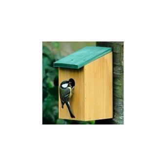 Maison nichoir en bois perchoir mangeoire a oiseau moineau ou mesange pour jardin ou exterieur - Maison oiseau bois ...