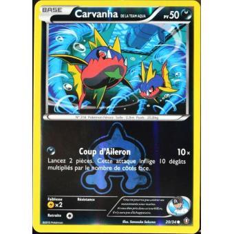 Carvanha Reverse XY- : Double Danger 20//34 Carte Pokemon Neuve Française