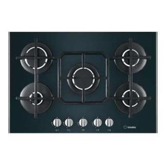 Scholt s s tv 750 bk gh table de cuisson au gaz 75 cm noir vitroc ramique avec - Table de cuisson scholtes gaz ...