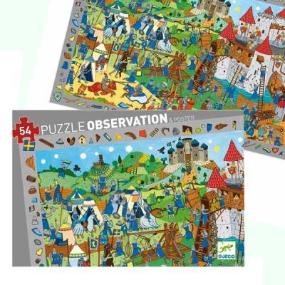 Puzzle Djeco Observation Medievales 54 pcs Enfants 4 ans +