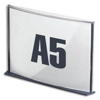 Plaque de porte format A5 coloris anthracite