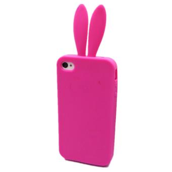 coque iphone 4 lapin rose