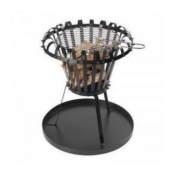 Foyer brasero barbecue avec grille pour feu de camps dans le jardin ou grillade chauffage d - Foyer exterieur pour jardin ...