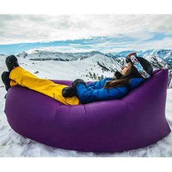 matelas pouf gonflable laysack pour piscine plage ou jardin violet equipements de piscine. Black Bedroom Furniture Sets. Home Design Ideas