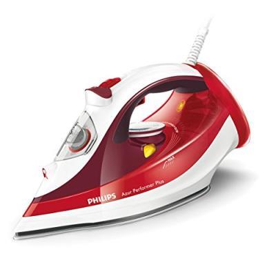 Philips azur performer plus gc4516/40 fer à repasser vapeur 2400 w rouge/blanc