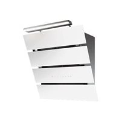 Roblin Creatix 800 - Hotte - hotte décorative - largeur : 80 cm - profondeur : 47.5 cm - evacuation & recyclage - inox/verre blanc