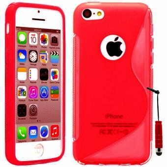 Coque silicone gel S Line mini stylet pour Apple iPhone 5C ROUGE