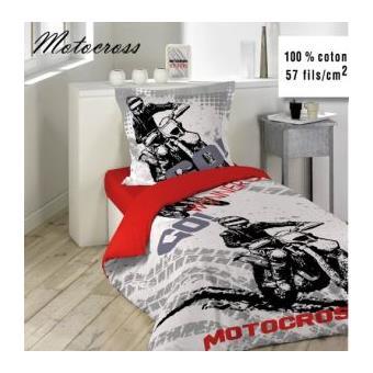 Housse De Couette 140x200 Cm Motocross 1to Achat Prix
