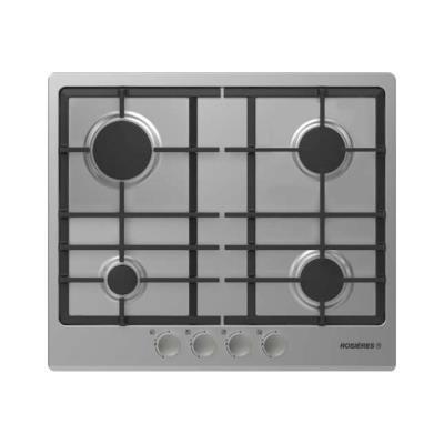 Rosières Origine RTG 64 FB IN - Table de cuisson au gaz - 4 plaques de cuisson - Niche - largeur : 56 cm - profondeur : 48 cm - acier inoxydable - acier inoxydable