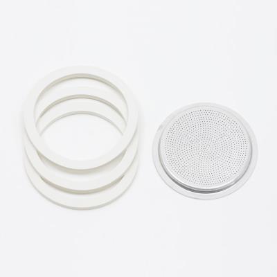 Pezzetti filtre +3joints p/caf.ital.alu 9ts/bl