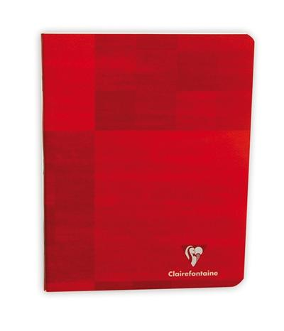 Cahier Piqué Rouge 17x22cm 32 pages Séyès 3mm 12/12