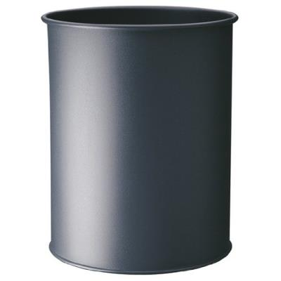 Durable 330123 corbeille à papier métal 15l argent