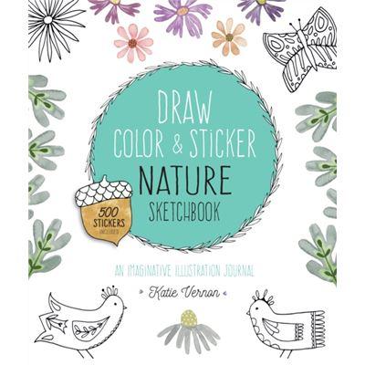 Draw Color & Sticker Nature Sketchbook