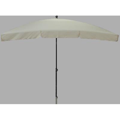 Parasol rectangulaire centré coloris ecru - Dim : H 250 x D 240 X 160/4 cm -PEGANE-