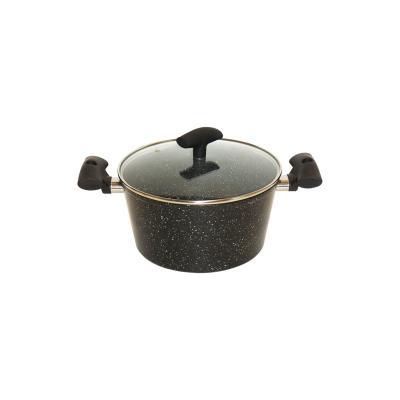 Faitout revêtement pierre 28 cm + couvercle en verre - Secret de Gourmet