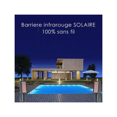Barrière infrarouge sans fil solaire 30 mètres - iProtect - INFRA ...
