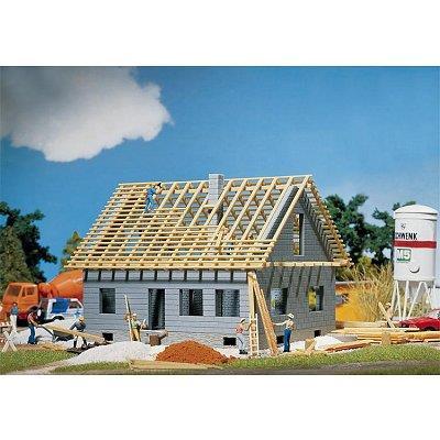 Modélisme HO : Maison en cours de construction Faller