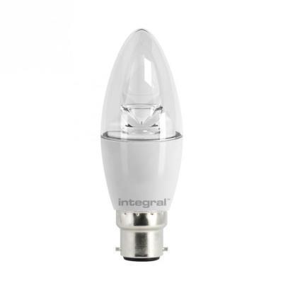 Integral led ampoule flamme b22 540lm 6w équivalent a 40w 5000k claire ilb35b22c6.0n05kbewa