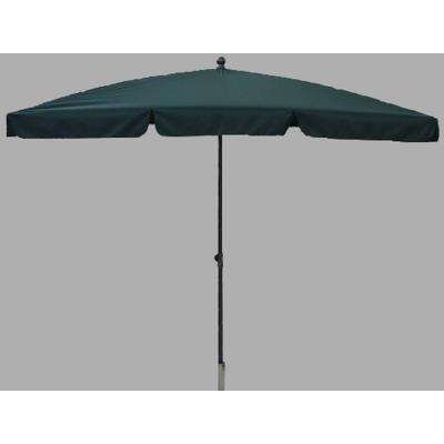 Parasol rectangulaire centré coloris vert - Dim : H 250 x D 240 X 160/4 cm -PEGANE-