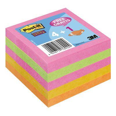 Post-it ss654np pack de 5 blocs-notes format 76x76 mm couleur néon post-it®