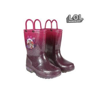 Bottes en Caoutchouc pour Enfants LOL Surprise! Fuchsia Violet Taille des chaussures 30