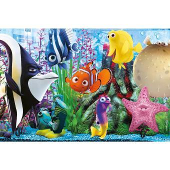 Puzzle cadre 15 pi ces le monde de nemo les amis de l for Aquarium cadre